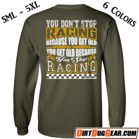 "Crate Rate® LS Shirt 36: ""Don't Stop Racing"""