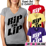 "Dirt Girl® V-Neck Tee 45: ""RIP the LIP"""