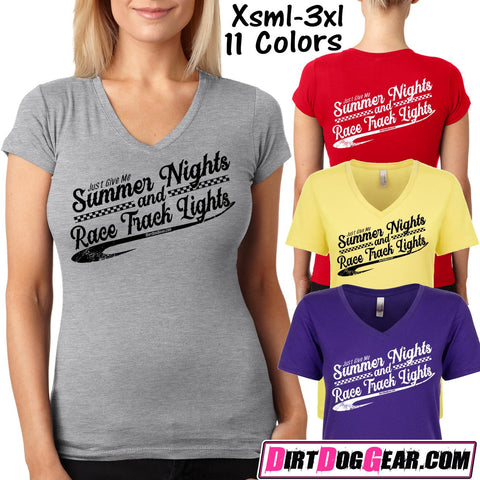 "Dirt Girl® V-Neck Tee 43: ""Summer Nights"""