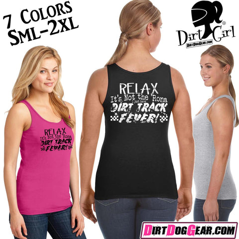"Bones 15 Ladies Tank Top: ""Dirt Track Fever"""