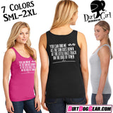 "Dirt Girl® Shirt #20 Tank Top: ""As the Sun Goes Down"""