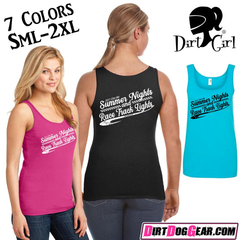 "Dirt Girl® Tank Top 43: ""Summer Nights"""