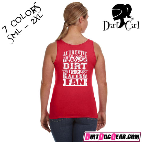 "Dirt Girl® Shirt #1 Tank Top: ""Dirt Track Fan"""
