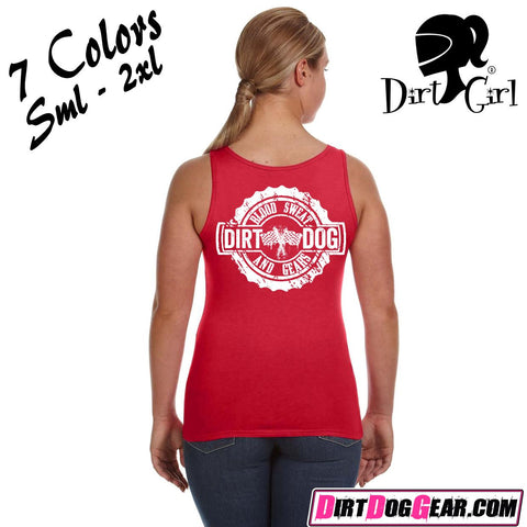 "Dirt Girl® Shirt #33 Tank Top: ""Blood, Sweat & Gears"""