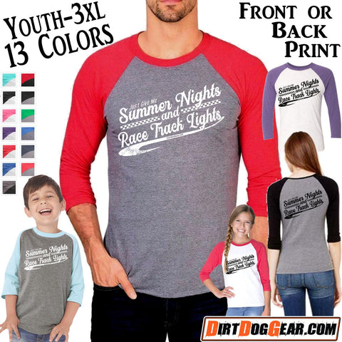 "Triblend Raglan Jersey 43: ""Summer Nights"""
