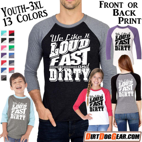 "Triblend Raglan Jersey 49: ""Loud, Fast & Dirty"""