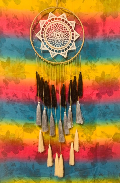 Tassel Gray Daya Kindness Dream Catcher
