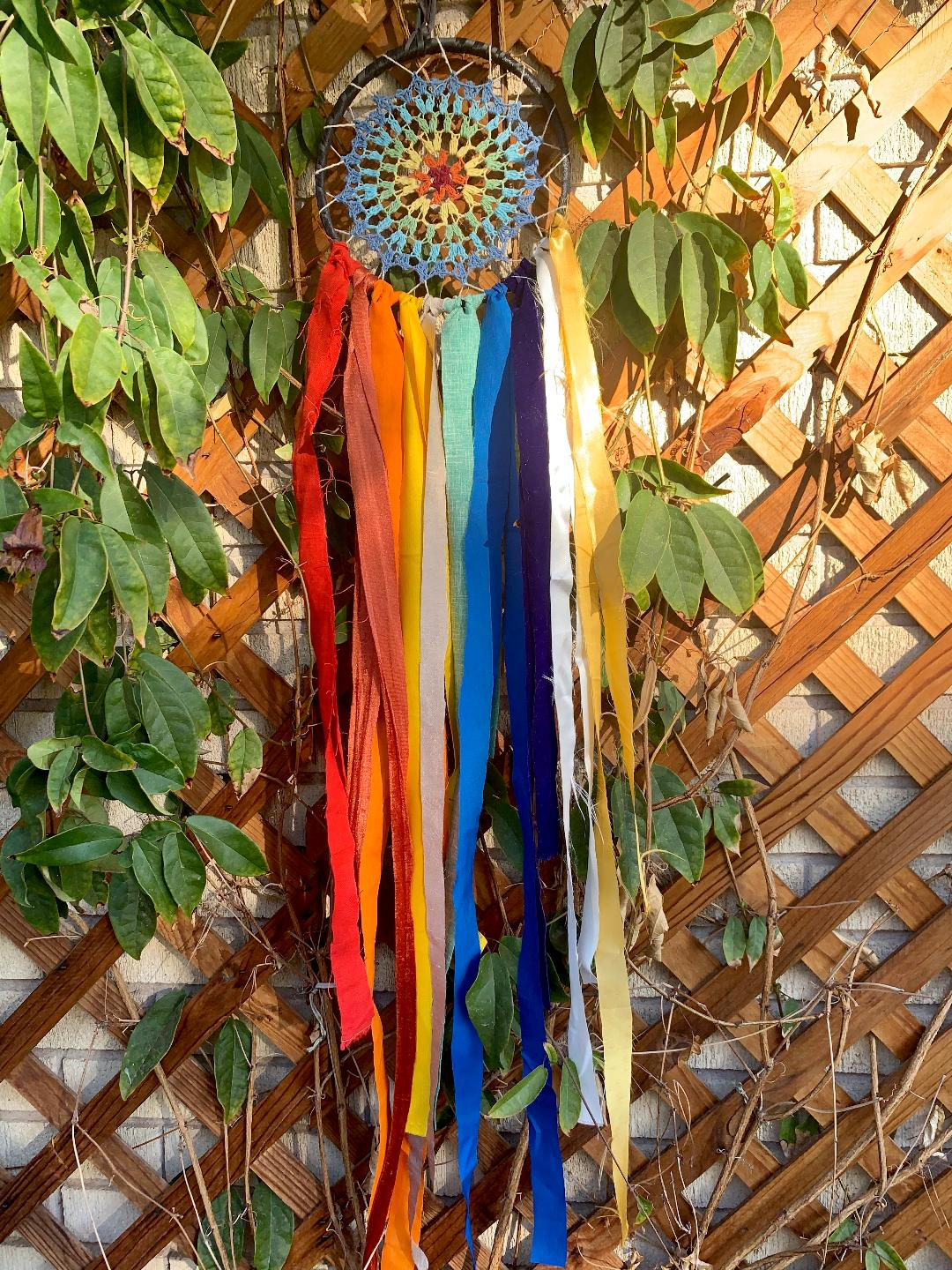 Rainbow Doily Manisha Wish Dream Catcher Kit