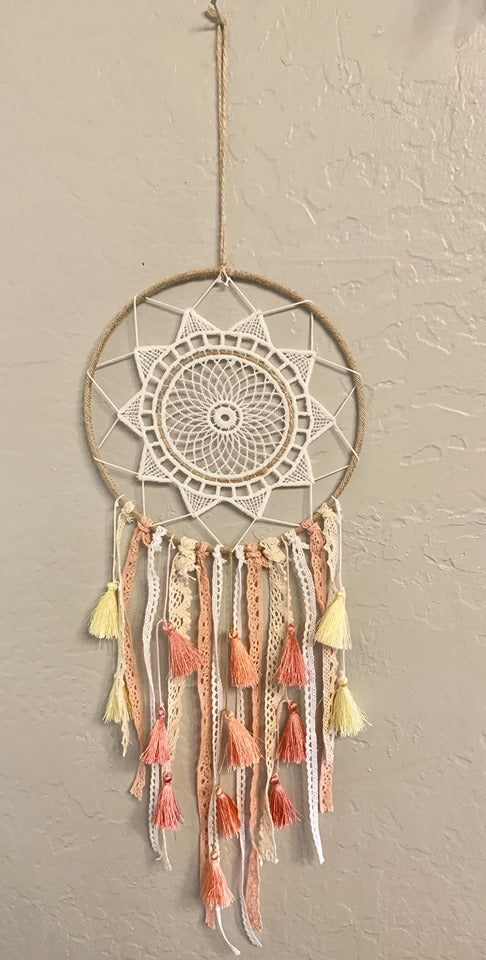 Tassel Ginni Precious Peach Dream Catcher