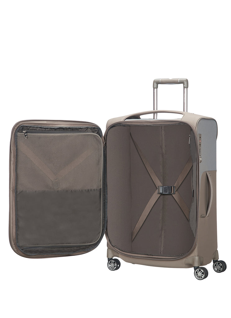 Samsonite B-Lite Icon mellem kuffert m. ekspansion sand