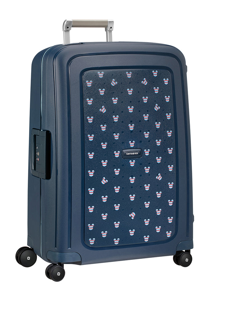 Samsonite S'cure Disney Mickey Mouse Blå Stor Kuffert