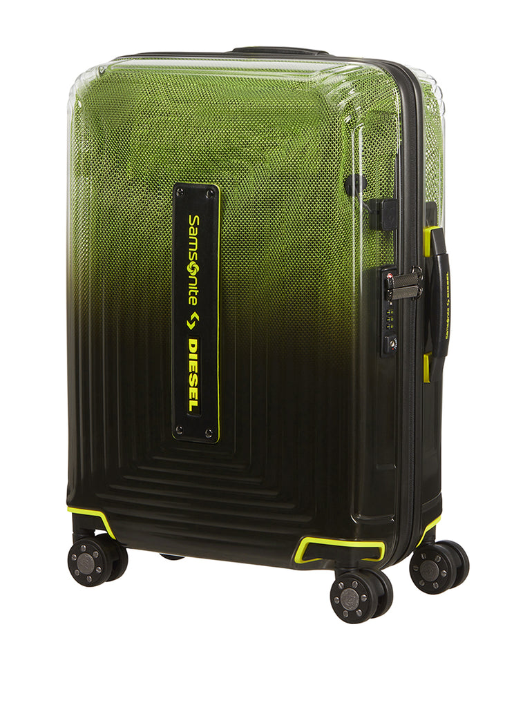 Samsonite Neopulse X Diesel Sort/Gul Ekstra Stor Kuffert