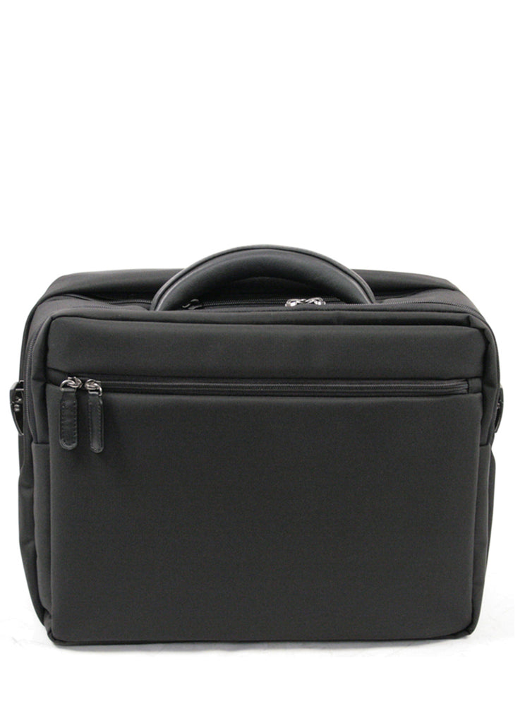 Cox Laptop Briefcase Nylon m. Læder Stor