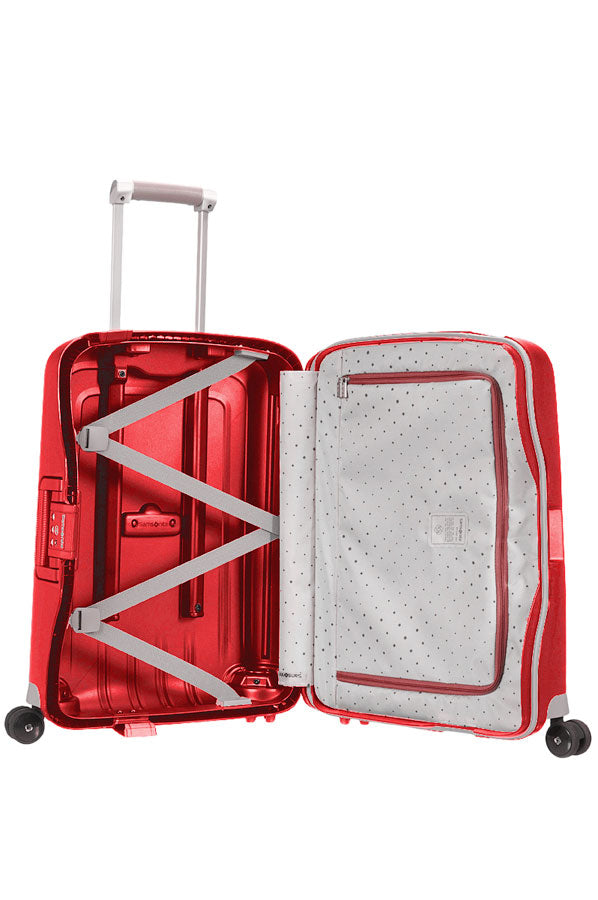 Samsonite S'cure Crimson Rød Kabinekuffert