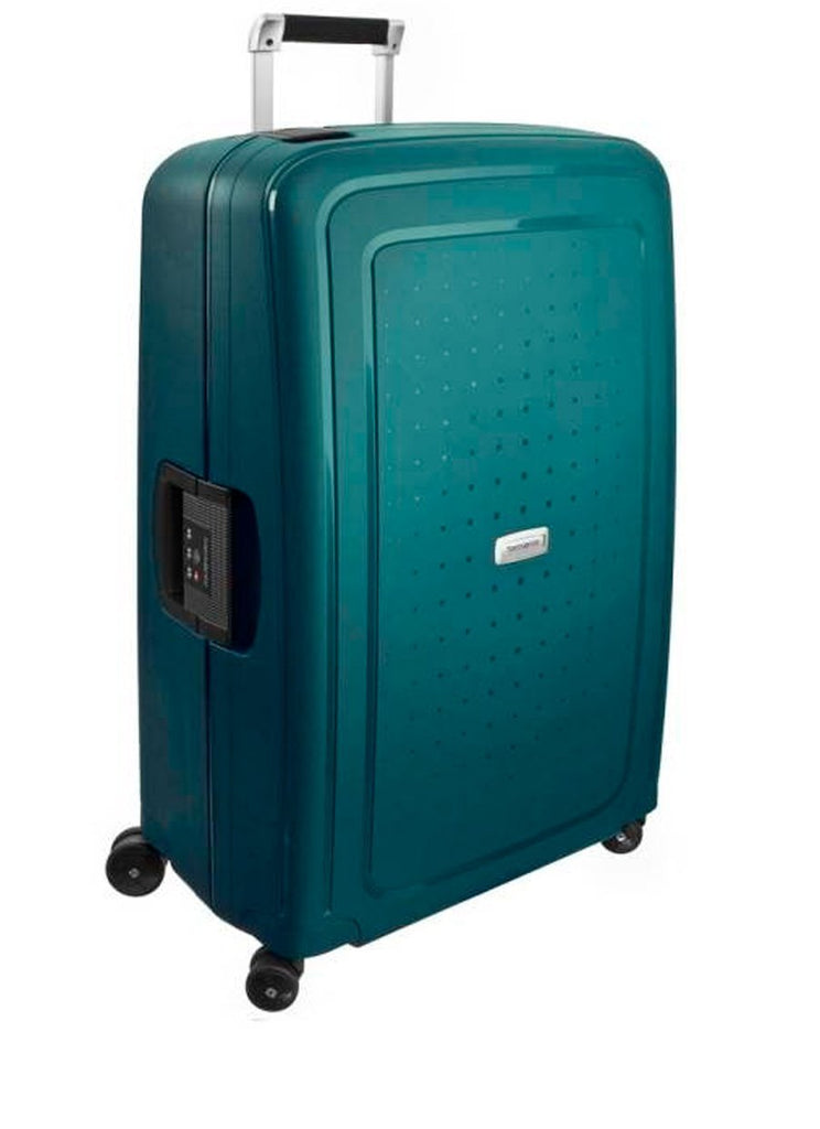 Samsonite S'cure DLX Metallic Sort/Guld Stor Kuffert