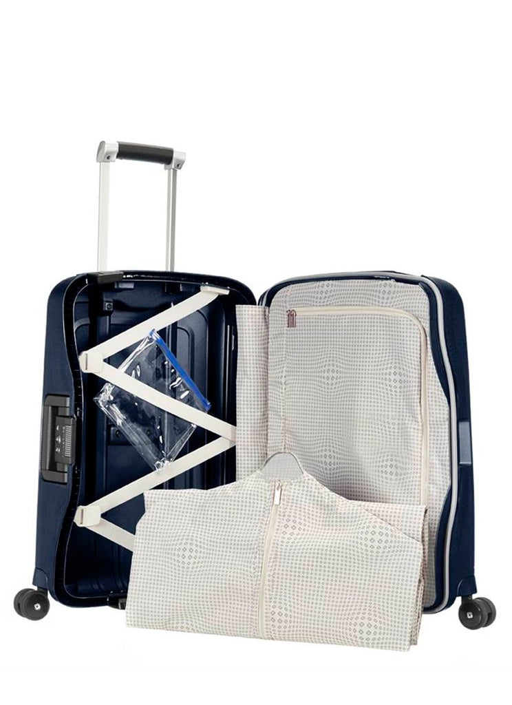 Samsonite S'cure DLX Metallic Midnight Blå Kabinekuffert