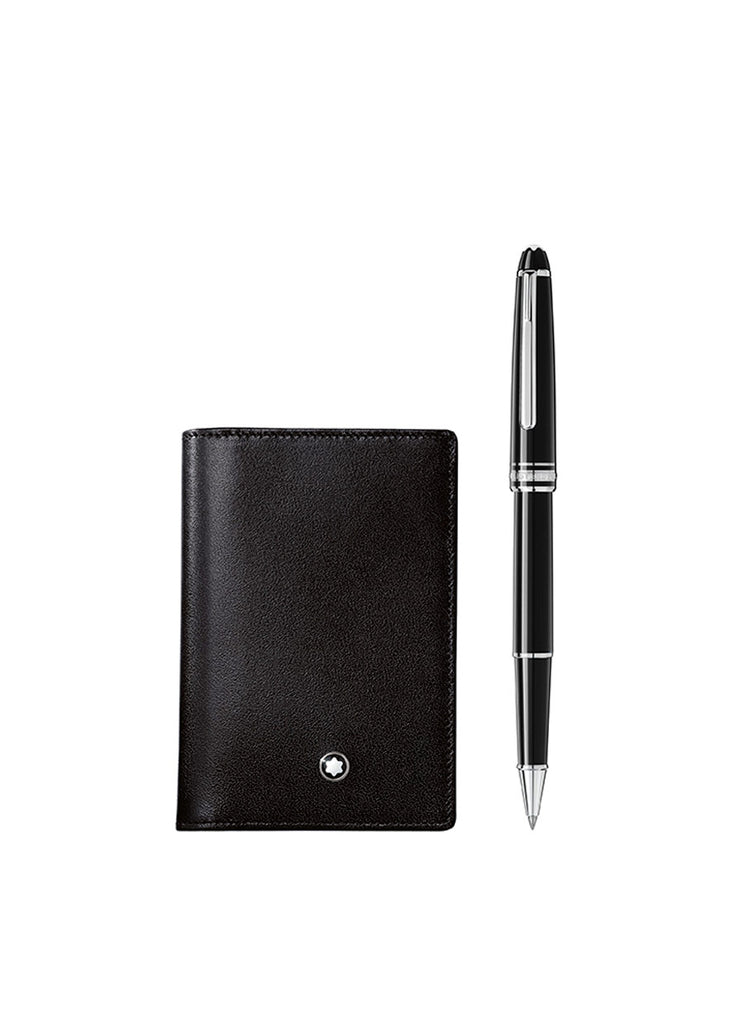 Montblanc Meisterstück Sæt m. Platinum Classique Rollerball Pen & Business Card Holder
