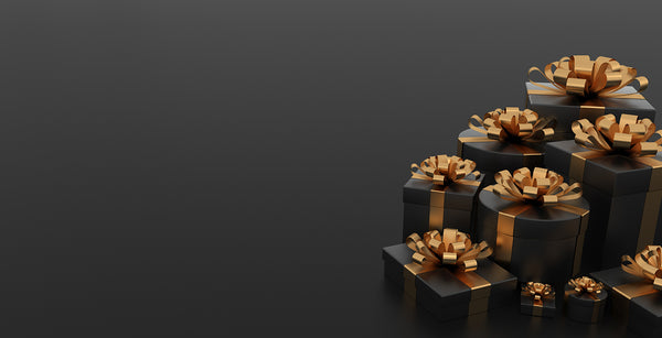 gift boxes black gold