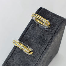 Load image into Gallery viewer, Copy of 18ct Yellow Gold Princess Diamond Channel Set Half Eternity Ring .15ct