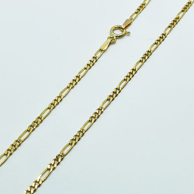 9ct Yellow Gold Figaro Chain Reconditioned