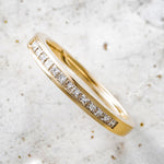 Load image into Gallery viewer, 18ct Yellow Gold Princess Diamond Channel Set Half Eternity Ring .25ct