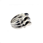Load image into Gallery viewer, DG Triple Layer Spine Ring Silver