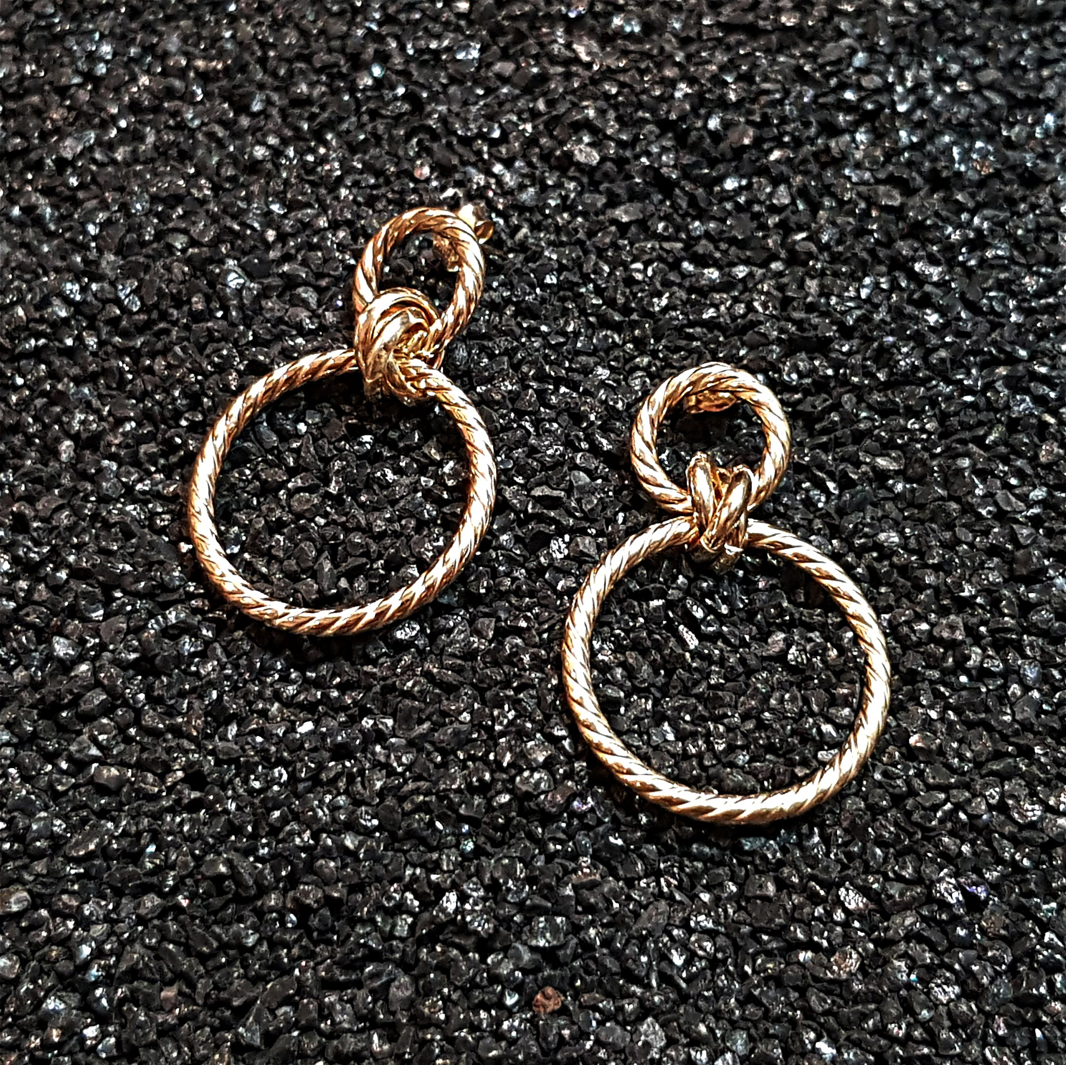 Rope Twist Double Hoop Earrings