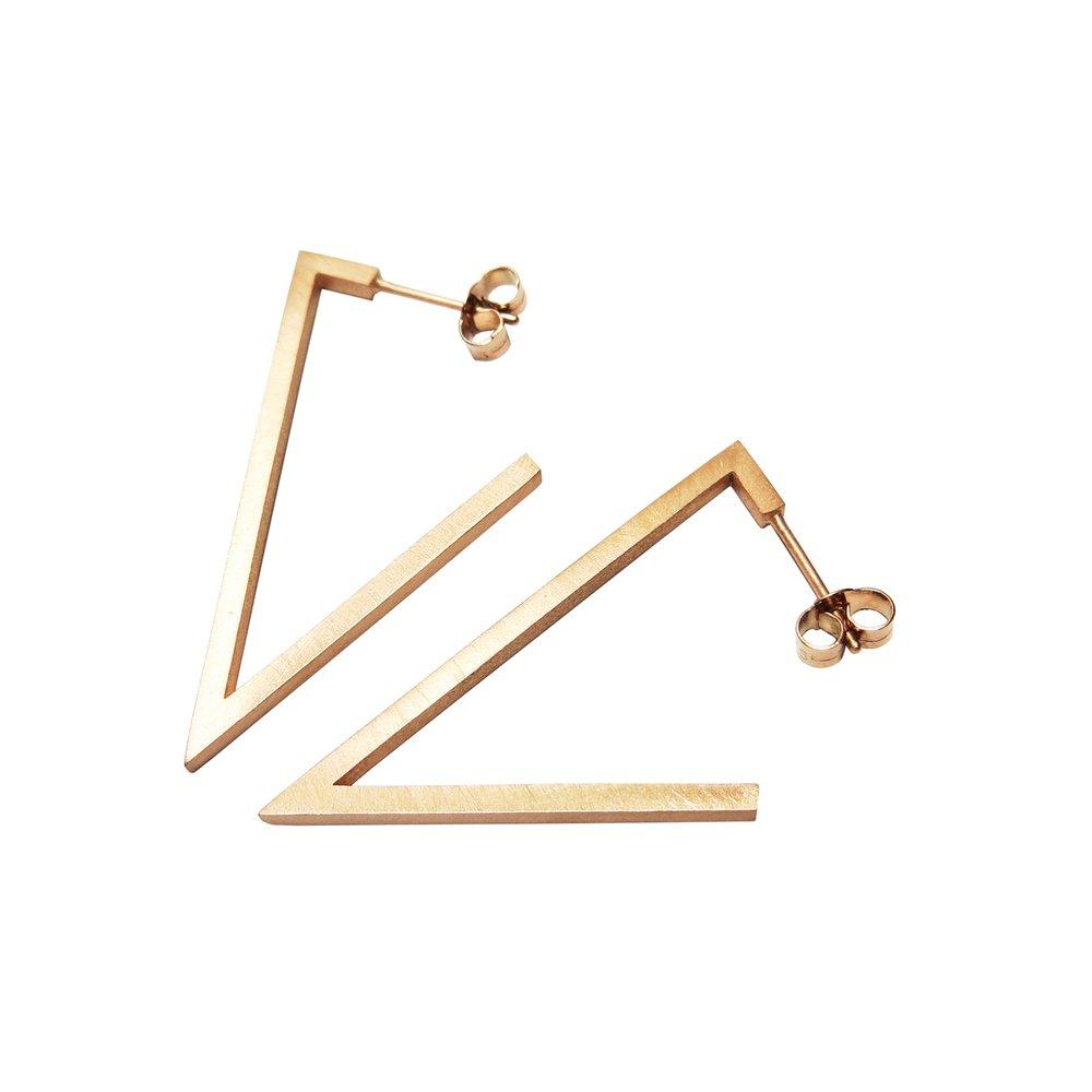 Tri-Angle Earrings MED