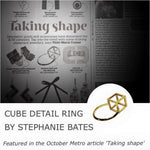 Load image into Gallery viewer, Cube Detail Ring