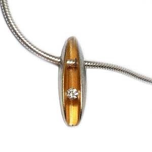 PF Trap Sml Shell Pendant with 2pt Diamond