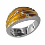 Load image into Gallery viewer, PF Trap Multi Split Shell Ring with 3 Diamonds