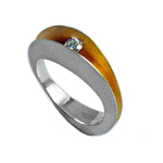 Load image into Gallery viewer, PF Trap Shell Ring with 10pt Diamond