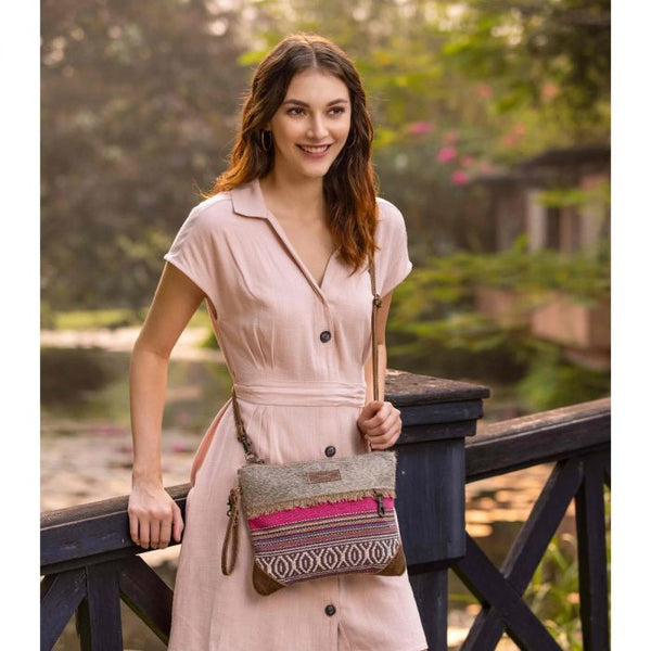 Laced Rug Canvas Leather Small Crossbody Myra Bag