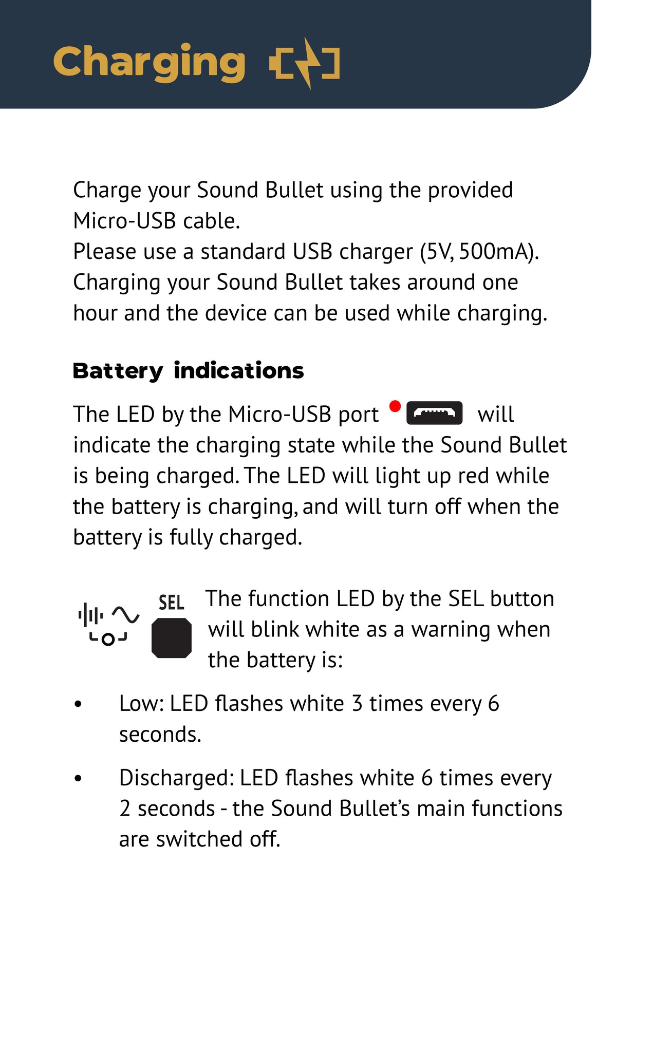 Sound Bullet User Manual - Page 12