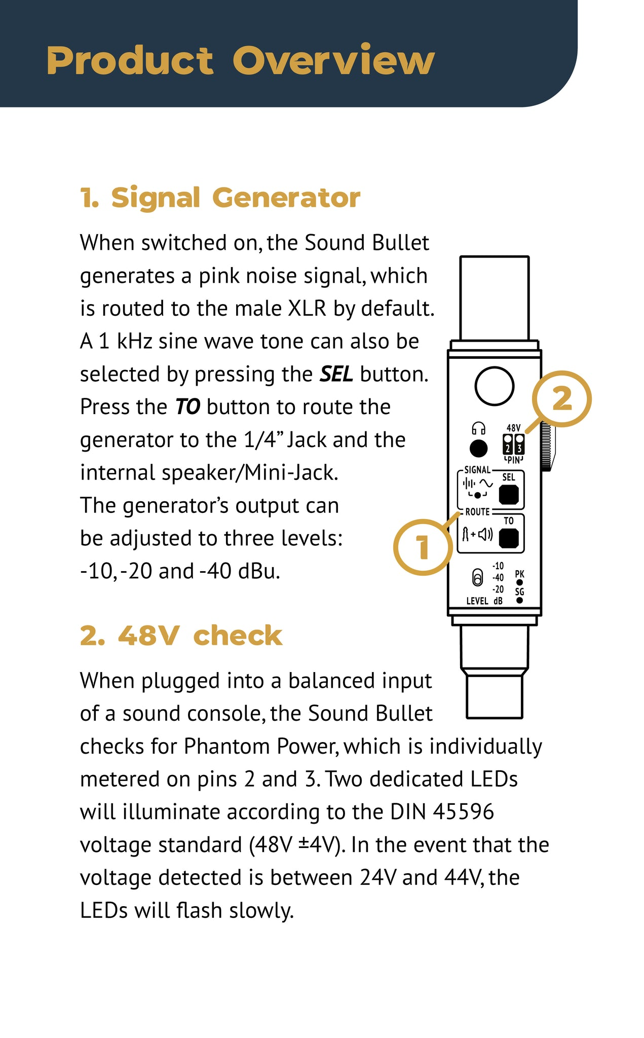 Sound Bullet User Manual - Page 5