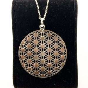 Oriental Geometric Life Cycle Necklace + Pendant, 925 Sterling Silver, Gift for her, Ramadan Eid Gift 044