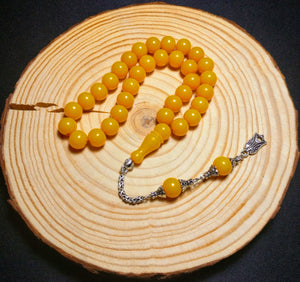 ÇUBUK Malzeme Osmanli tarzi Tesbih, Special Ottoman Style Tasbeeh Tasbih Prayer Beads made from Amber Rods, Islam Eid Turkish 702