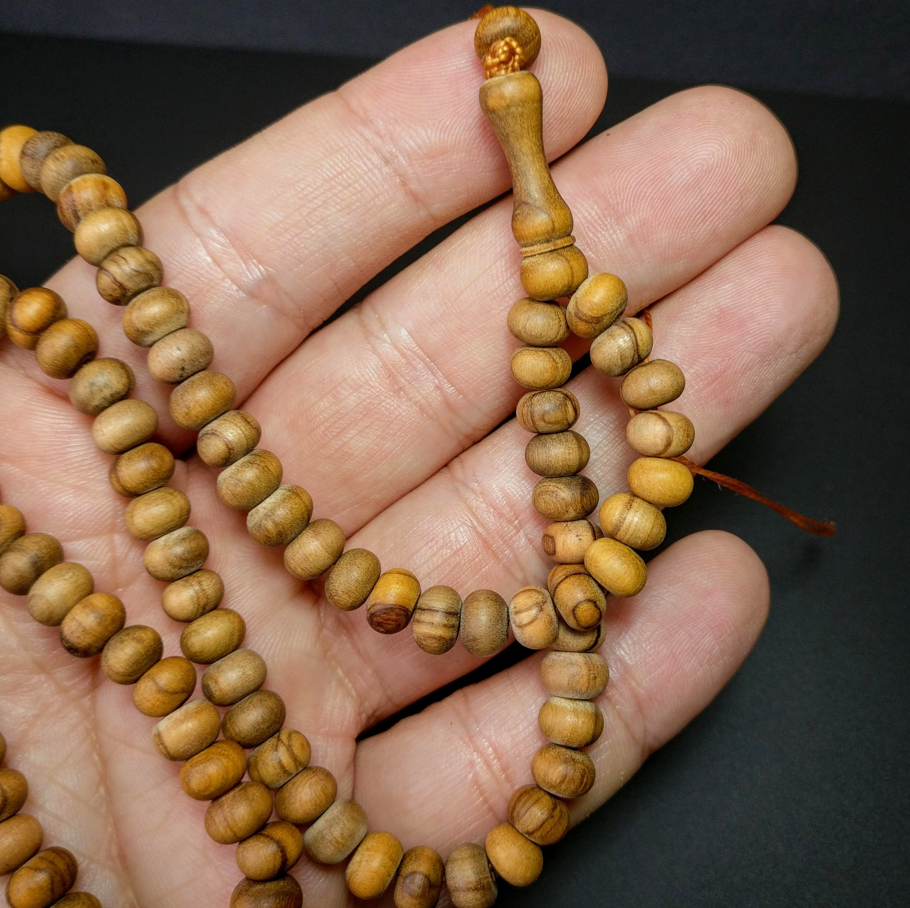 Turkish Olive tree Prayer Beads, Dua Tasbih, Tesbih, Misbaha, Worry Beads, Dhikr, Zaytun 99 beads, Zikr Tasbeeh (natural polished) 279
