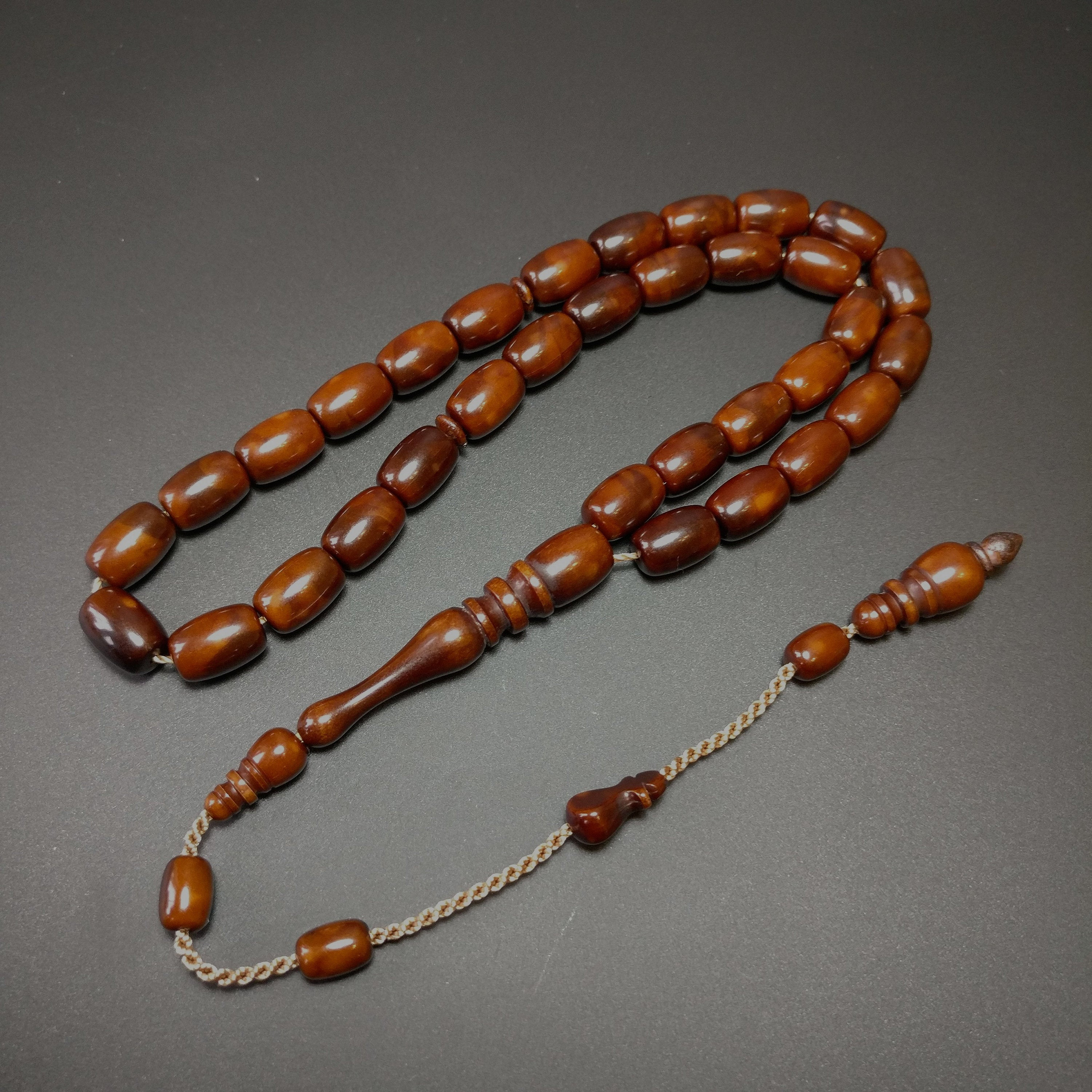 New Stylish Dark Brown Prayer Beads, Akrilik Tesbih Muslim Rosary Islam Allah Tasbih Acrylic Tasbeeh 046