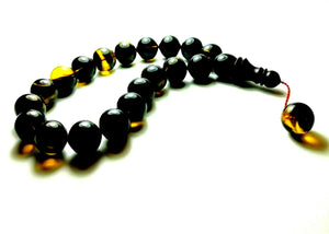 19 Turkish Amber Tasbih Prayer Beads, Efe Boy 19'lu Usta is SIKMA Kehribar Tesbih, Turkish Tasbih, Maskot Tesbih Misbaha Komboloi Efeboy