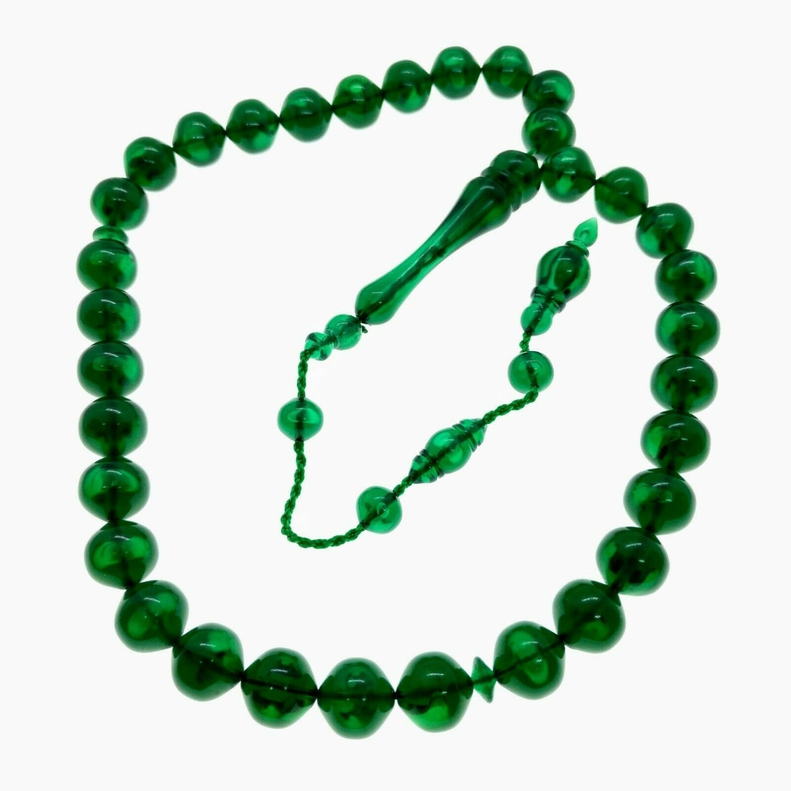 Stylish Round Peaceful Green Prayer Beads Yesil Akrilik Tesbih Muslim Rosary Islam Allah Tasbih Tasbeeh 334