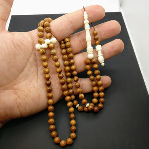 Special Coca tree Prayer Beads with Camel Bone, Kuka Tesbih Turkish Kokka Tasbih Misbaha Worry Dhikr 99 beads Ramadan Zikr Tasbeeh Subha 197