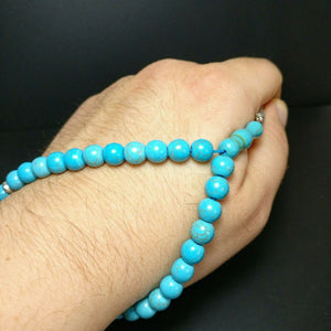 Pressed Turquoise Worry Beads Gemstone Prayer Tasbih Turkuaz Feroza Tesbih 400