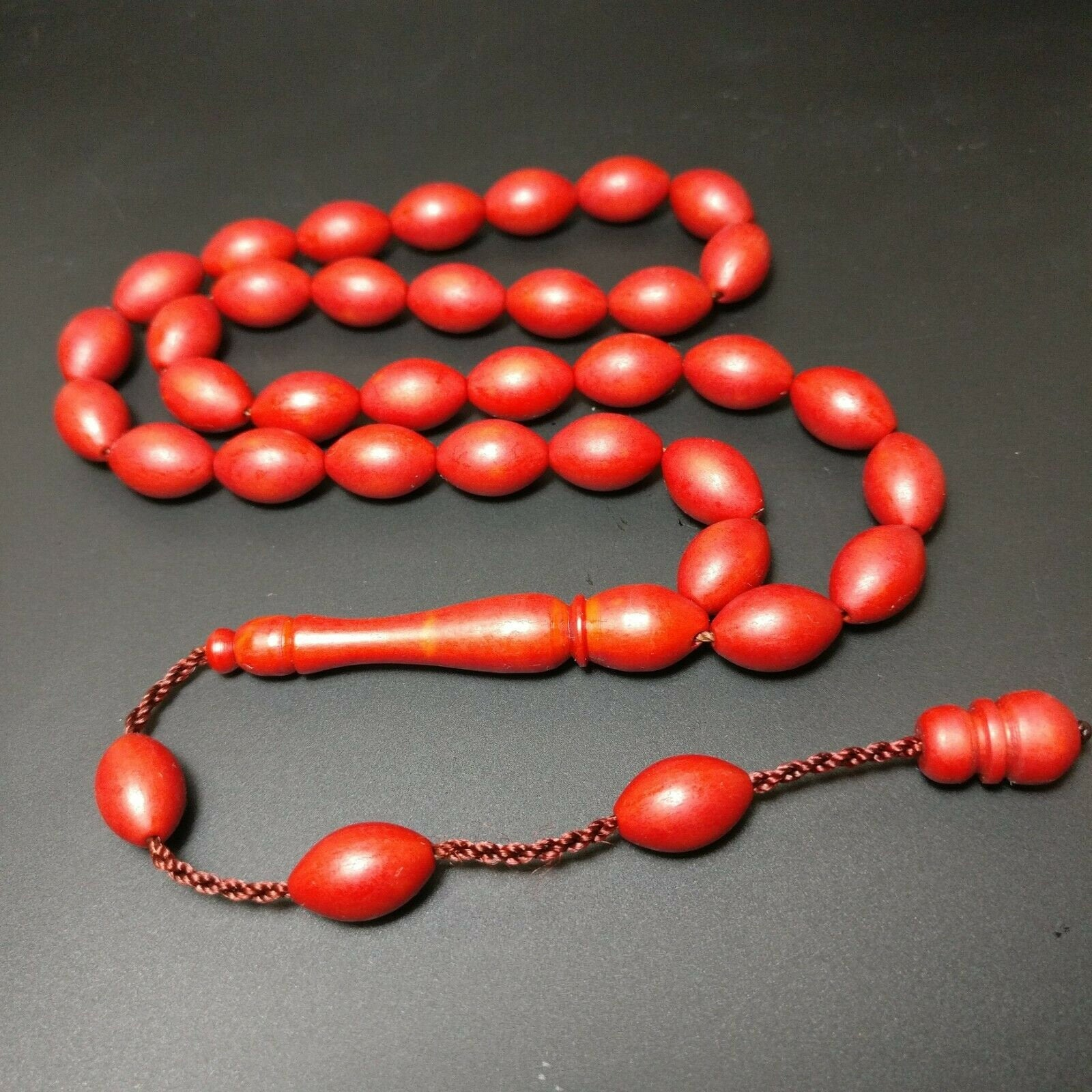 Prayer Beads from German Fiber, Alman Fiber Tesbih Muslim Islam Tasbih Turkish Misbaha Subha Komboloi, Tespih, Worry Beads 616