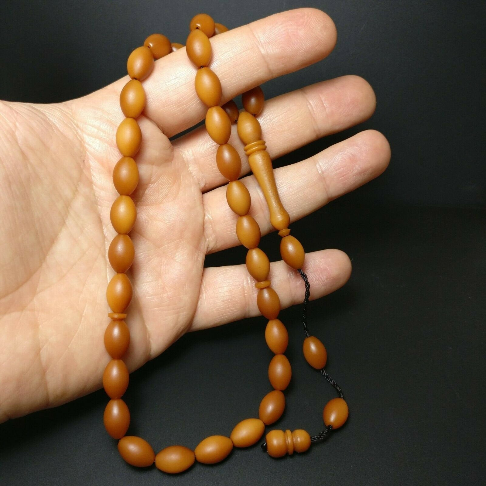 Prayer Beads from German Fiber, Alman Fiber Tesbih Muslim Islam Tasbih Subha 233