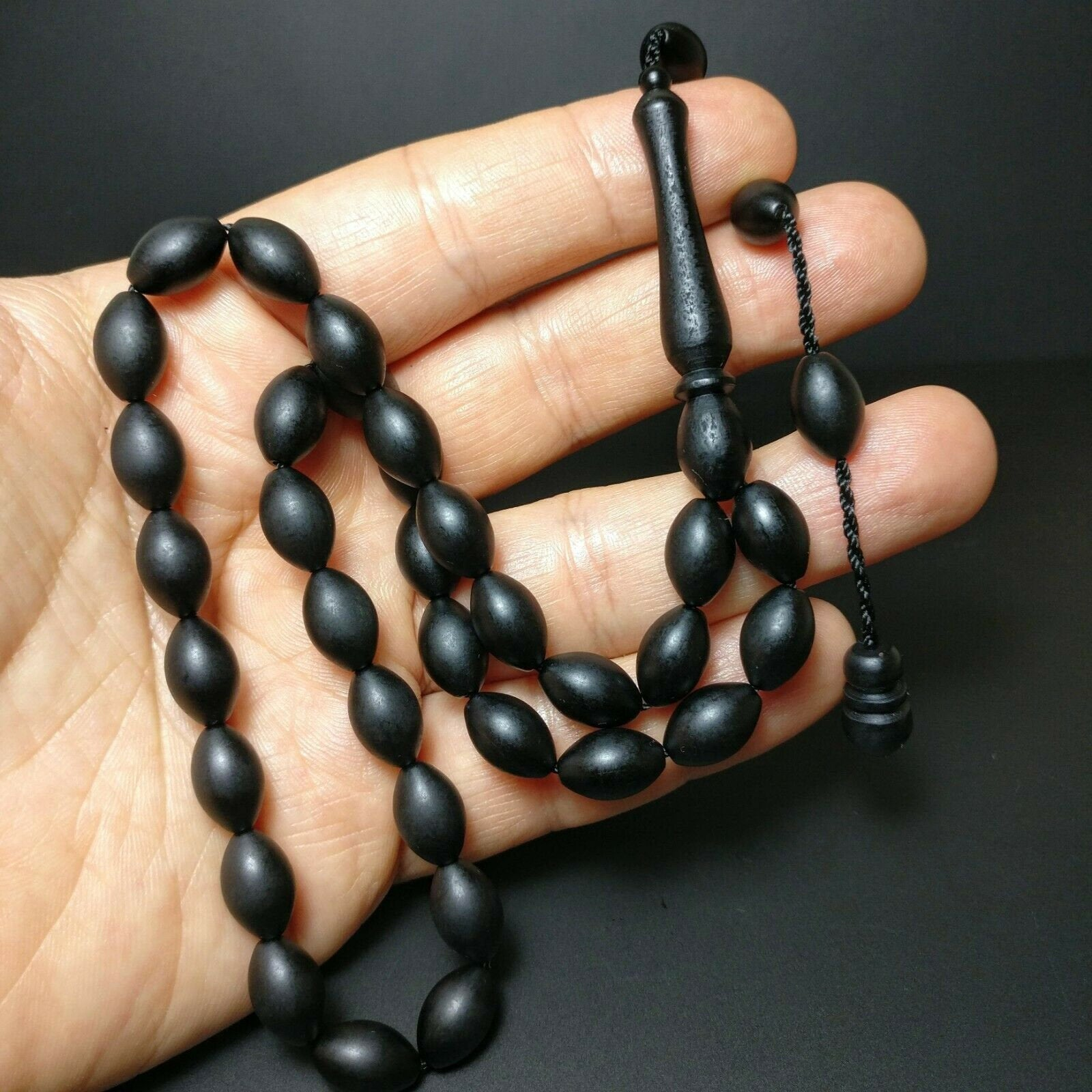 Prayer Beads from German Fiber, Alman Fiber Tesbih Muslim Islam Tasbih Turkish Misbaha Subha Komboloi, Tespih, Worry Beads 972