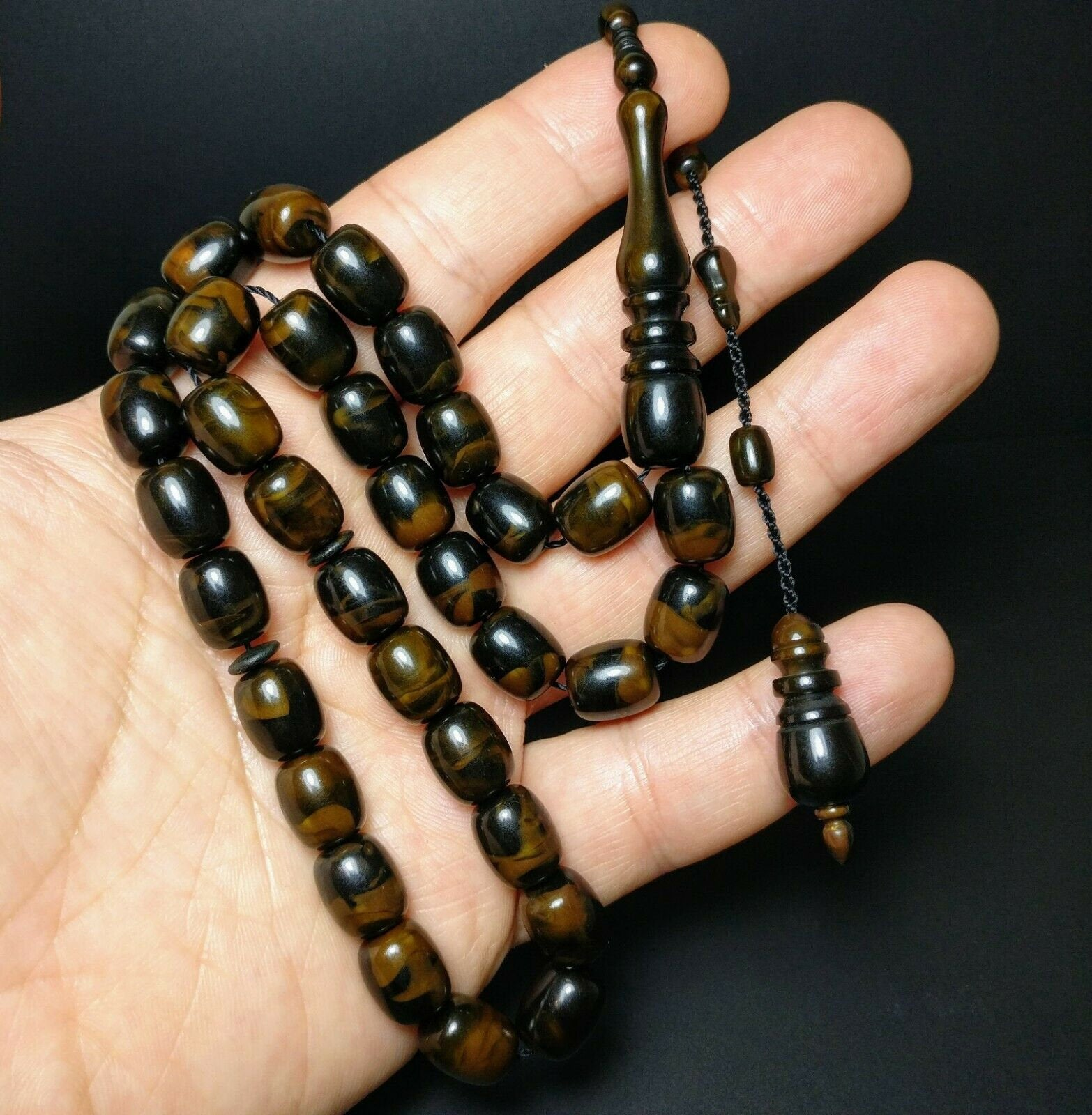New Stylish Big Prayer Beads Tesbih Muslim Rosary Islam Tasbih Tasbeeh Turkish Misbaha Subha 318