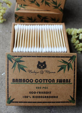 Bamboo Cotton Swabs (200 Pcs)
