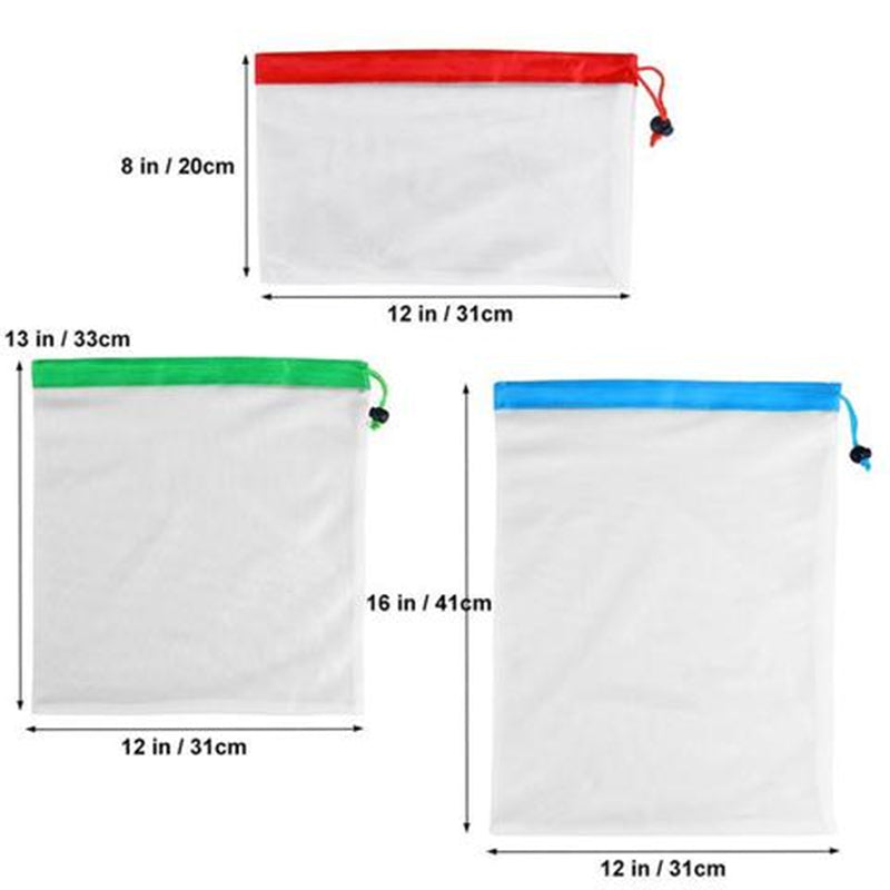 Reusable mesh bags- dimensions