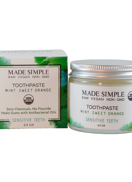 Organic Vegan Toothpaste- Made Simple Skin Care